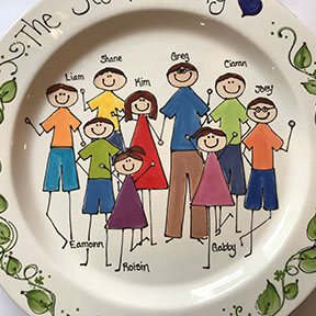 custom-painted family platter